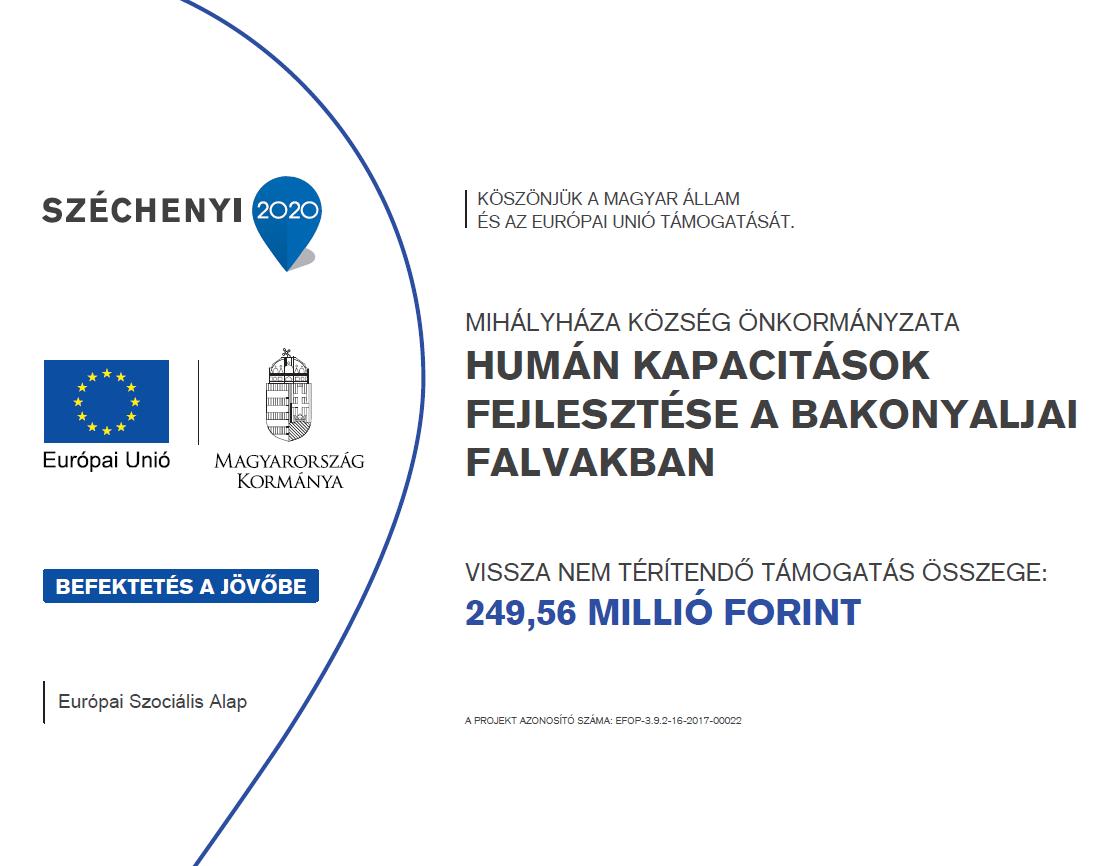 EFOP-3.9.2-16-2017-00022 Humán kapacitások fejlesztése a Bakonyaljai falvakban